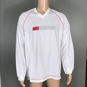Nike Athletics Mens White Athlic Long Sleeve SZ.L